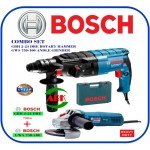 BOSCH COMBO SET GBH 2-24 DRE ROTARY HAMMER WITH SDS-PLUS + GWS 750-100 ANGLE GRINDER